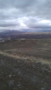 Looking back to Sparks and Peavine Mtn.