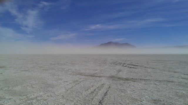Black Rock Desert in the wind
