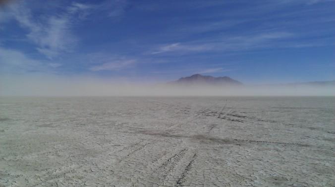 Black Rock Desert in the wind