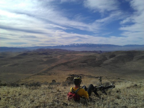 Looking west from a roadless point. Canoe hill in near distance and Mt. Rose in far.