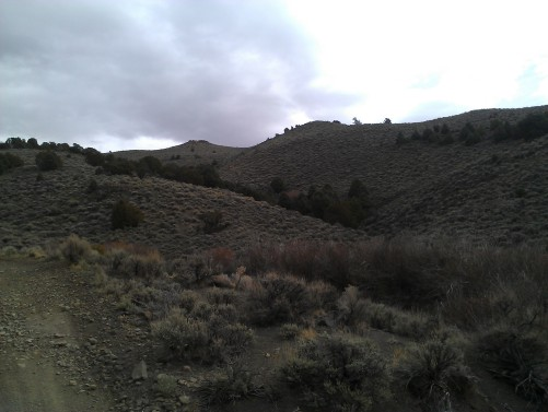 Jumbo Grade climbing along small creek