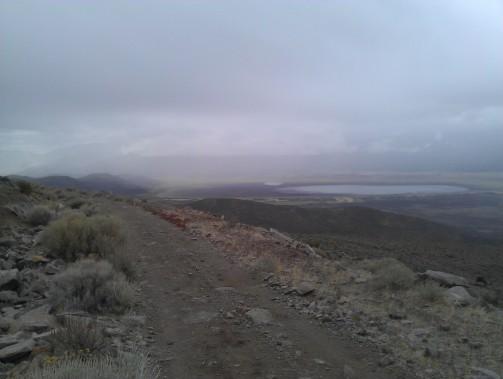 Above Washoe Lake, exploring a road below Ophir Grade