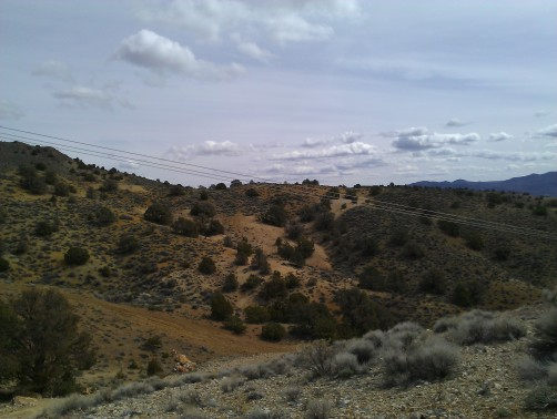 Powerline road above Tocchino Springs, Flowery Range, Nevada