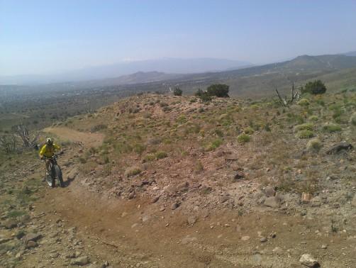 Climbing above Spanish Springs