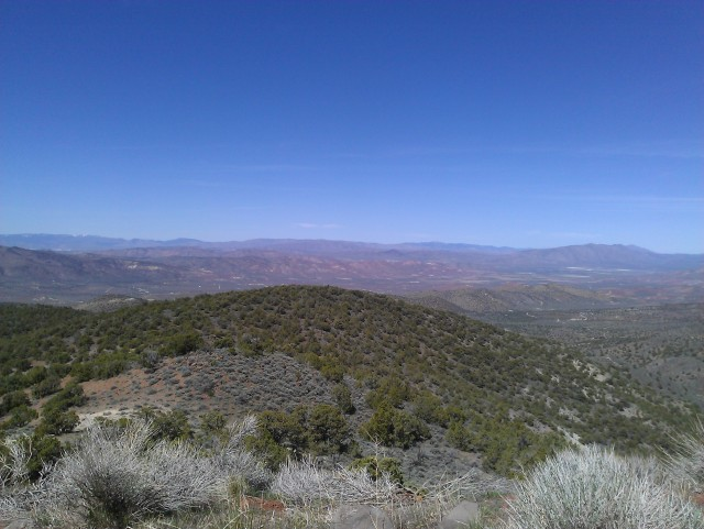 Microwave Rd, above Palomino Valley looking west.