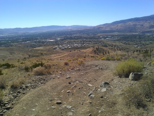 A steep Forrest Service Rd climb