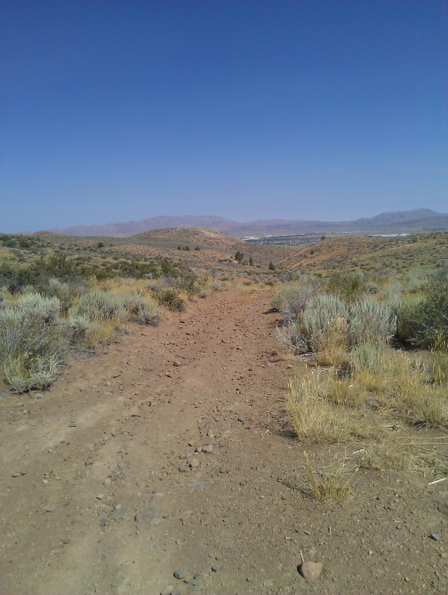 Typical road on Peavine, Looking to Peterson Range