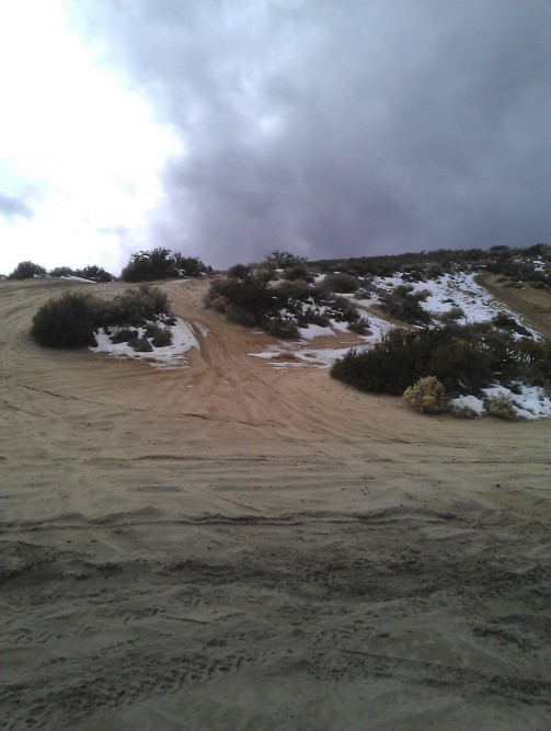 Dunes behind Washoe Lake