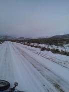 Fast conditions through Bedel Flats, State Line Peak in distance
