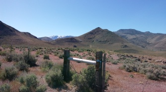 First of three gates on Quail Canyon Ranch