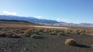Mini-playa dwarfed by Granite Range and Black Rock Desert
