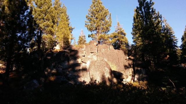 Inviting rock groto