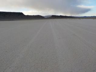 Crossing small Playa to camp